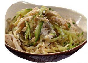 Блинный салат с курицей