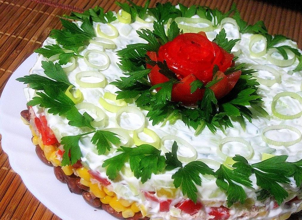 Салат с фасолью ... - russianfood.com