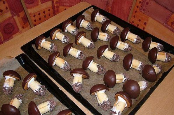 Рецепт печенья грибочков в духовке