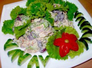 Салат из омлета