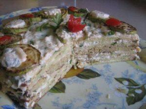 Рецепт закусочного торта
