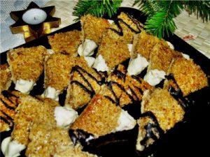печенье с орехами и кокосом<