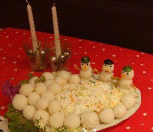 Салат «Снег на Рождество»