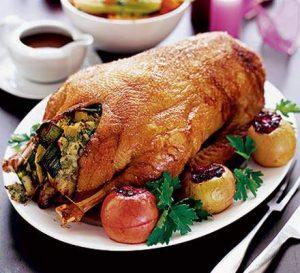 Вторые блюда: «Фаршированный гусь»