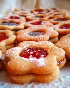 вкусное печенье с джемом