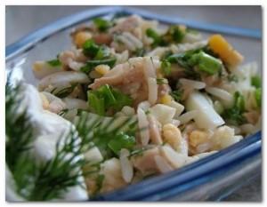 Рецепт салата с рисом