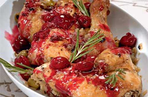 Рецепт курицы под вишневым соусом
