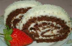 Рецепт шоколадно-кокосового рулета
