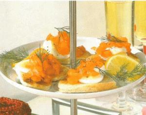 Рецепт приготовления тостов с красной рыбой