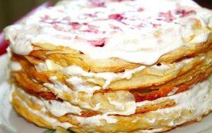 Клубничный торт «Наполеон»
