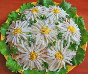 salat romashka