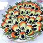 Яркая закуска из баклажанов «Павлиний хвост»