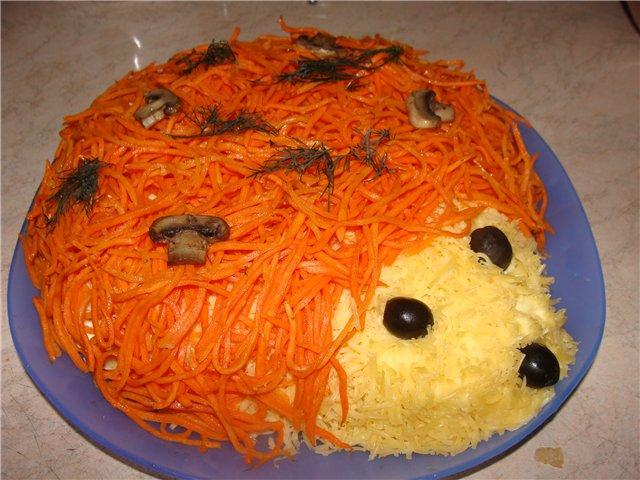 Фото салат ёжик