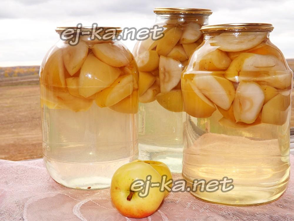рецепт яблочный компот из антоновки на зиму