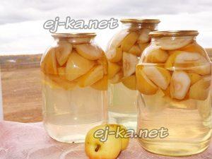 Яблочный компот из антоновки на зиму