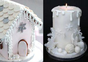 Украшение новогодних тортов мастикой