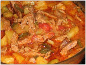 Азу по-татарски с картошкой