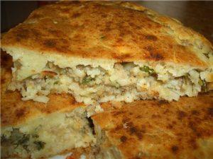Пирог с капустой на кефире или сметане