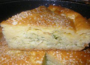 Вкусный капустный пирог на кефире