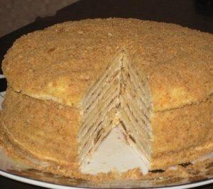 приготовление торта на сковороде