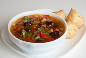 Суп с мясом и фасолью