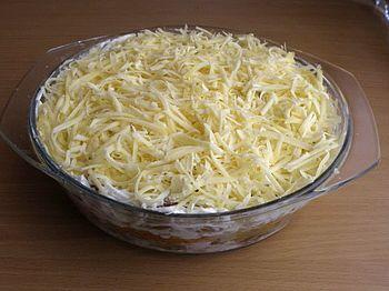 Курица грибы салат рецепт классический с