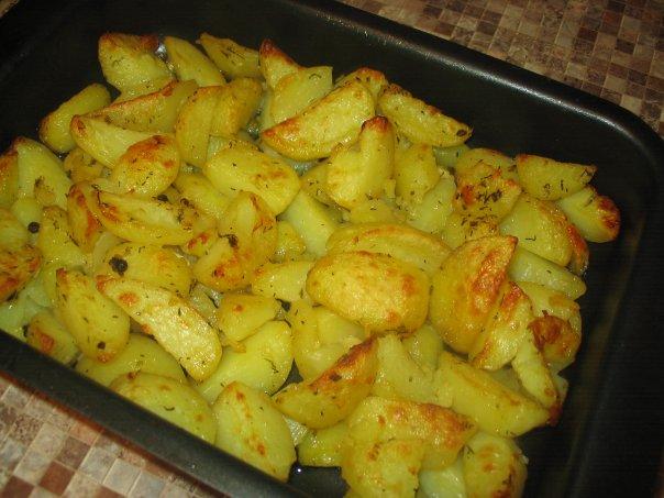 картошка дольками запеченная в духовке с майонезом