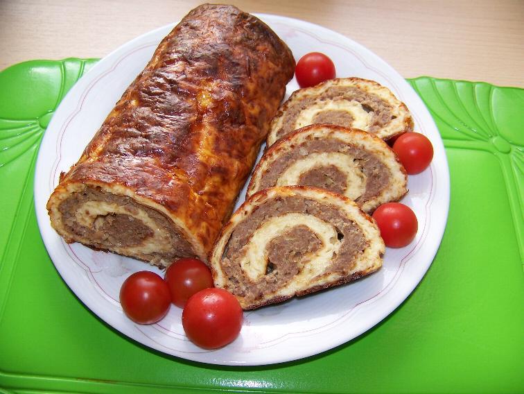 рецепт мясного рулета с фарша
