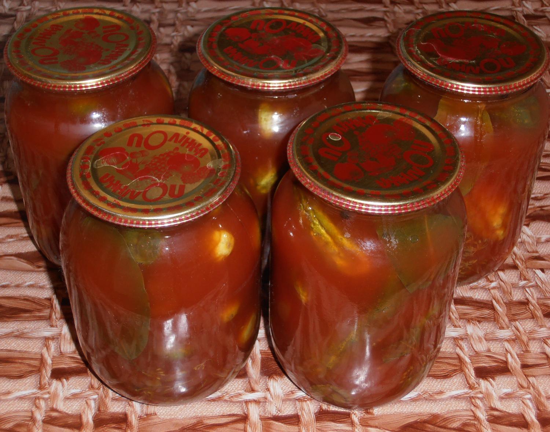 Простой консервированный салат из помидоров и 3