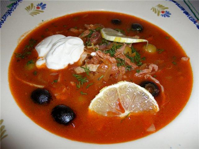 солянка мясная сборная классическая рецепт с фото