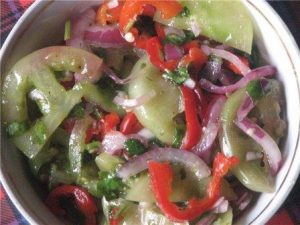 салаты из зеленых помидоров на зиму рецепты с фото