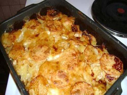 картошка с яйцом и мясом в духовке рецепт с фото