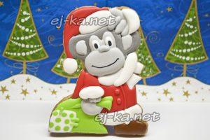 Печенье в виде обезьянки на Новый год 2016,