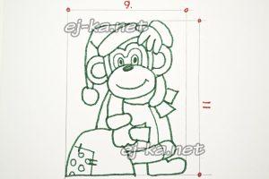 Делаем бумажный шаблон для печенья в виде обезьянки