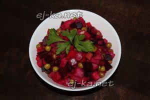 Винегрет с селедкой – рецепт приготовления с фото