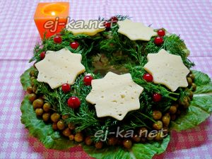 салат «Рождественский венок», рецепт с фото
