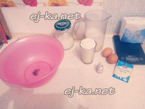 ингредиенты для пышных оладий на кефире