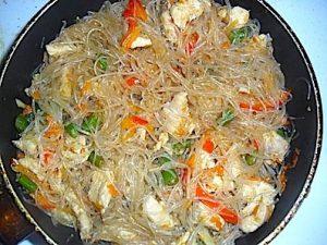 Фунчоза с курицей и овощами рецепты с фото