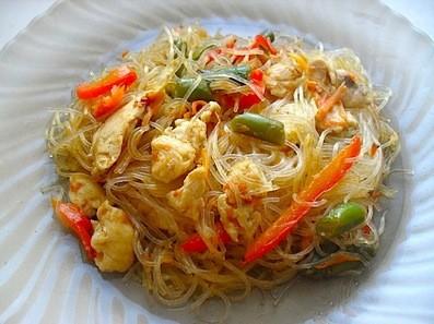 рецепт фунчозы с овощами и курицей
