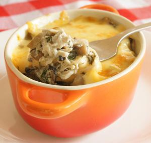 Рецепт жульена с курицей и грибами в духовке со сливками рецепт с пошагово 2