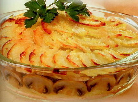 запеканка с картофелем и грибами в духовке