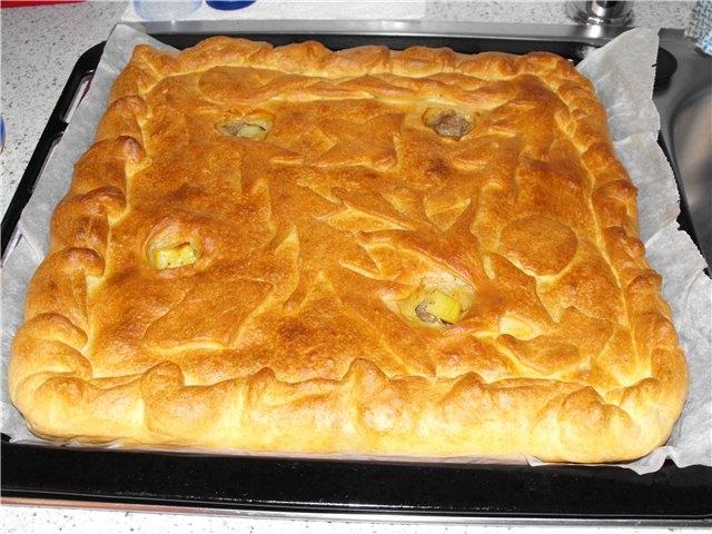 Пирог с картошкой и с фаршем в мультиварке рецепты с фото