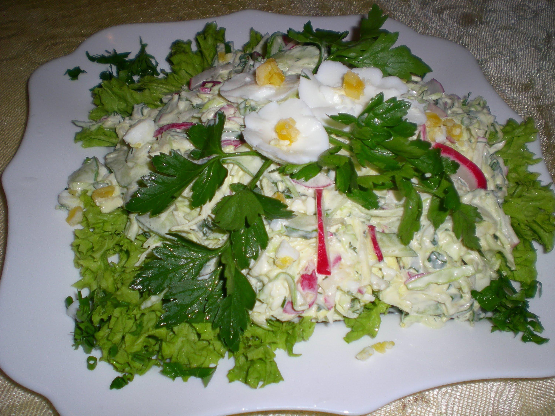 Салат из огурцов и свежей капусты рецепт очень вкусный