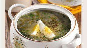 Суп из щавеля с яйцом классический