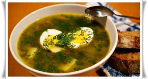 готовим суп со щавелем