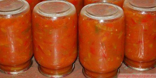 Лечо из кабачков, помидор и перца и моркови и лука на зиму