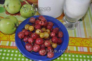 Крыжовник и яблоки для компота