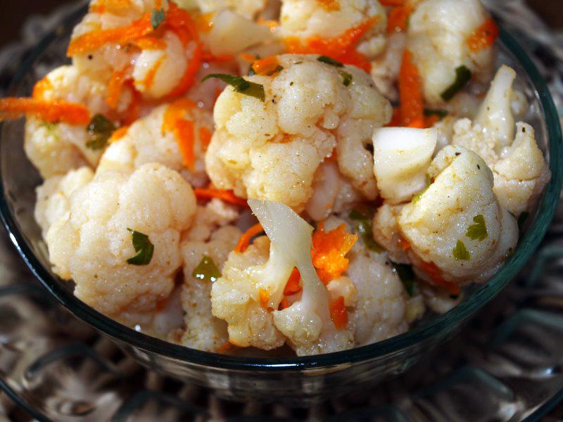 салаты с цветной капустой рецепты