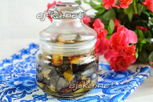 Маринованные баклажаны со вкусом грибов на зиму