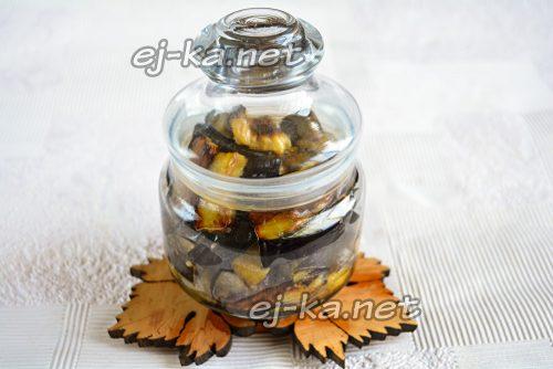 Баклажаны под грибы на зиму – рецепт с фото